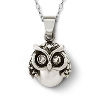 Pearl Owl Necklace