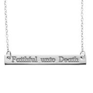 Faithful unto Death Festoon Necklace