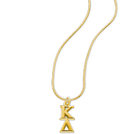 10K Lavaliere with Gold-Filled Snake Chain