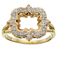Diamond Quatrefoil Ring