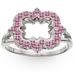 Jeweled Quatrefoil Ring