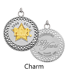 Two-tone Sesquicentennial Charm or Pendant