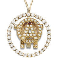 Diamond Pierced Badge Pendant
