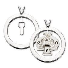 Plain Pierced Badge Pendant