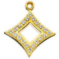 Crown Cubic Zirconia Pierced Lavaliere
