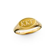 Oval Raised Letter Ring