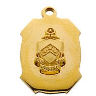 Badge Shape Charm w/Crest