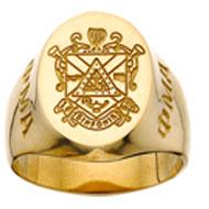 Incised Crest Ring