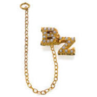 Crown Pearl Double Letter Guard