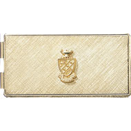 Money Clip w/Crest, Gold Plate