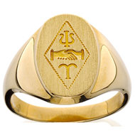 Incised Badge Ring