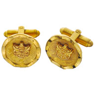 Round Ribbon Border Cufflinks