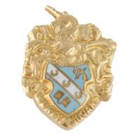 Scarf Size Enameled Crest Charm