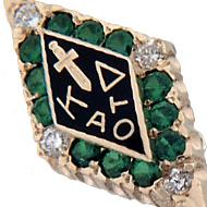 Large Emerald w/Diamond Points Badge