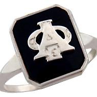 Onyx Badge Ring