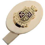 Oval Cufflinks with Crest