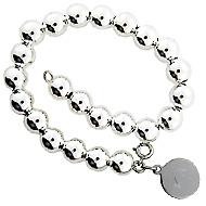 Sterling Silver Rondelle Beads Bracelet