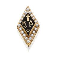 Large Crown Pearl Badge