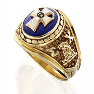 Official Sigma Chi Ring with Sapphire