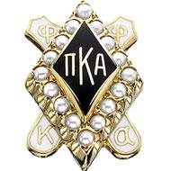 Small Crown Pearl Sweetheart Badge