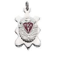 Badge Shape Pendant with Enameled Crest