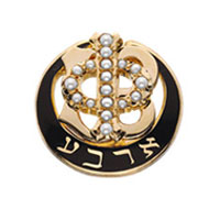 Polished Badge with Pearl Phi