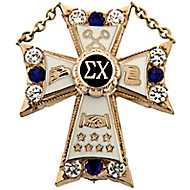 Large Diamond & Sapphire Badge