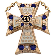 Official Alternating Pearl/Sapphire Badge