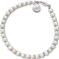 Mini Pearl Bracelet with Tag