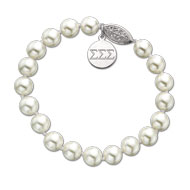Pearl Bracelet with Sterling Silver Tag