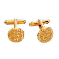 Incised Crest Cufflinks