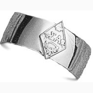 Wide Band Crest Ring
