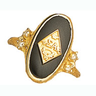 Imperial Onyx Ring with 4 Pearls