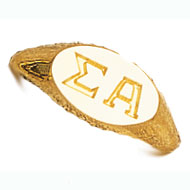 Incised Oval Letter Ring