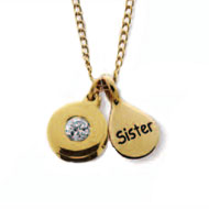 HJGreek.com | Accessory Collection | Necklaces, Bracelets, & Rings | Sisterhood Necklace :  sister yellow sorority gold