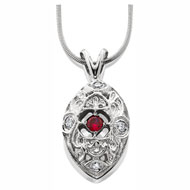 Edwardian Pendant with Ruby Stone