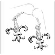French wire Fleur-de-lis Earrings