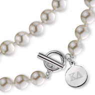 Simulated Pearl Toggle Necklace