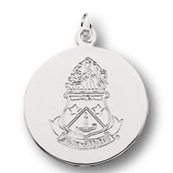 Engraved Crest Charm, 1/2