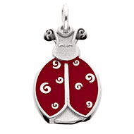 Enameled Dot the Ladybug Charm