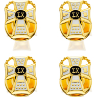 Stud Set with Enameled Badge Replica