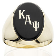 Oval Encrusted Black Onyx Ring
