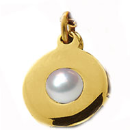 Collet Pearl Charm