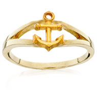 Loyalty Ring with Anchor