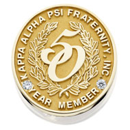 50 Year Member Pin with diamond accents