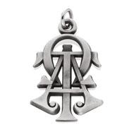 Hjgreek alpha tau omega lavalieres pendants monogram pendant mozeypictures Gallery