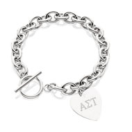SS Cable Toggle Bracelet with Engraved Heart
