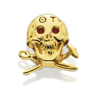 Skull Lapel Button