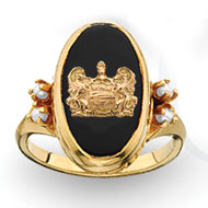 Imperial Onyx Ring with Pearls