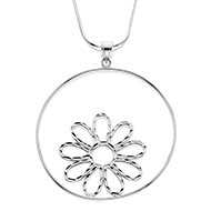 Floating Daisy Necklace